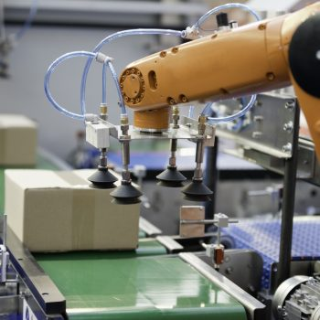 Robotic arm on a production line